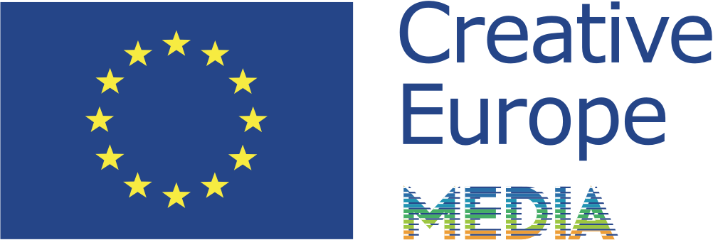EU:s flagga och Creative Europe Media